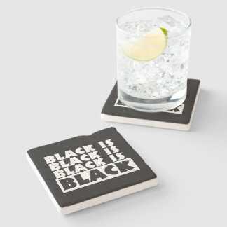 Black Is Black Stone Coaster