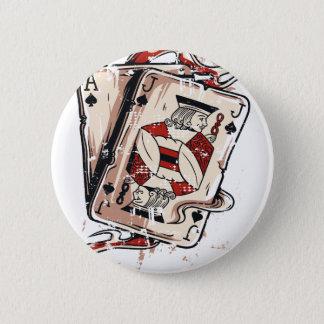 Black Jack 21 Cards 6 Cm Round Badge