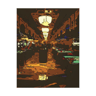 Black Jack and Poker Tables in Las Vegas Stretched Canvas Prints