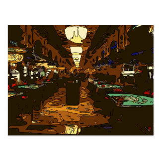 Black Jack and Poker Tables in Las Vegas Post Card