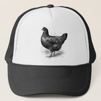 black java hen trucker hat