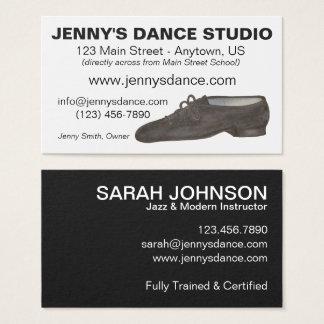 Black Jazz Dance Shoe Studio Teacher Choreographer Business Card