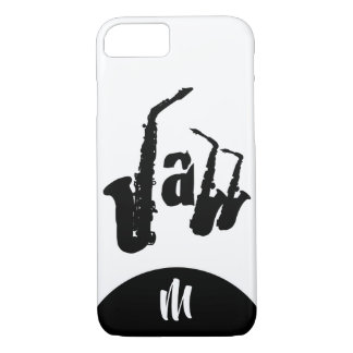 Black Jazz Sax Choose color Monogram Iphone Case