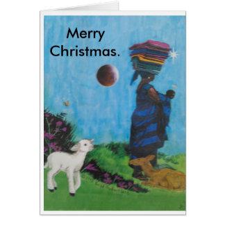 Black Jesus and the Black Madonna. Card