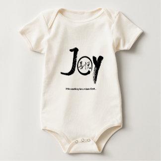 "Black joy kanji inside enso zen circle ""Joy"" Baby Bodysuit"