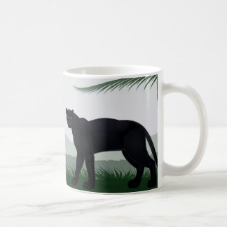 Black Jungle Panther Mug