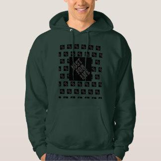 BLACK JUST FOR LIFE, VERT FONCÉ Sweet-shirt Hoodie
