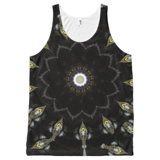 Black kaleidoscope pattern | All-Over print tank top