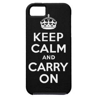Black Keep Calm and Carry On Case-Mate Case