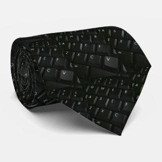 Black-Keyboard Geek Tie