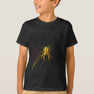 Black kids Hanes T-shirt with a Spider