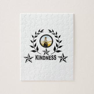 black kindness stamp jigsaw puzzle