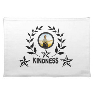 black kindness stamp placemat