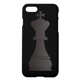 Black king chess piece iPhone 8/7 case