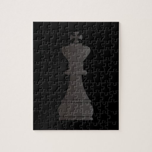 Black king chess piece jigsaw puzzles