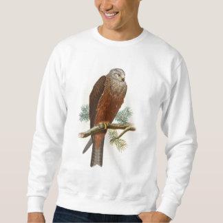 Black Kite Hawk John Gould Birds of Great Britain Sweatshirt