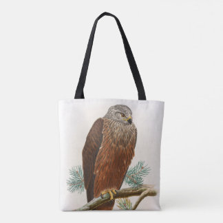 Black Kite Hawk John Gould Birds of Great Britain Tote Bag