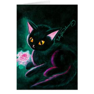 Black Kitten Art Cards