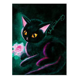 Black Kitten Art Cards Postcard