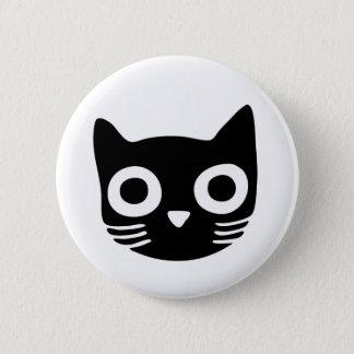 Black Kitty 6 Cm Round Badge