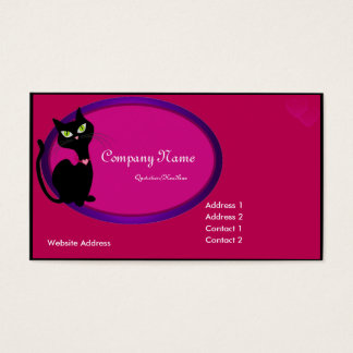 Black Kitty Cat Business Card