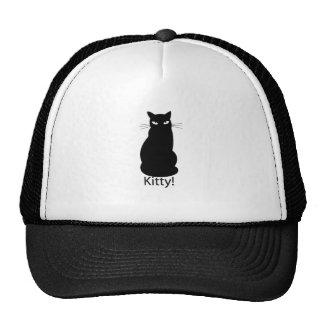 Black Kitty Cat Cap