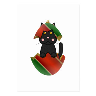 Black Kitty In A Christmas Ornament Business Cards