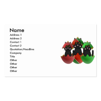 Black Kitty In Christmas Ornaments Business Card