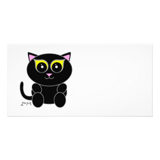 Black Kitty Picture Card
