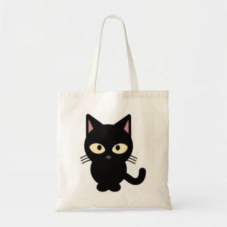 BLACK KITTY TOTE BAG