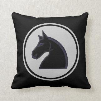 Black Knight Horse Chess Piece Cushion