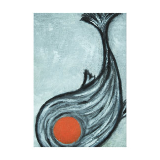 black koi fish canvas print