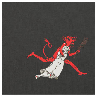 Black Krampus Fabric