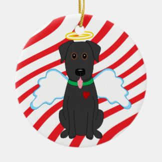 Black Lab Angel Christmas Dog Ornament