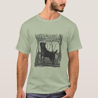 black lab art t-shirt