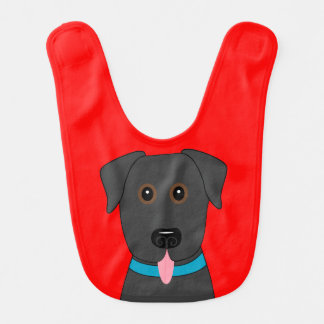Black Lab Baby Bib