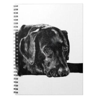 Black Lab called Charley Spiral Note Book