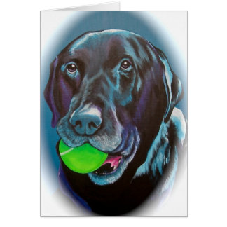 Black Lab Card