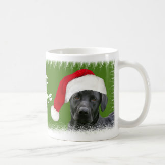 Black lab Christmas Coffee Mug