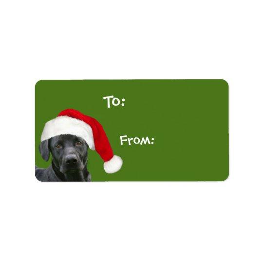 Black lab Christmas gift Address Label