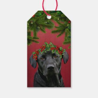Black Lab Christmas Gift Tags