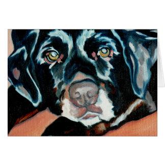 Black Lab Dog Greeting Card