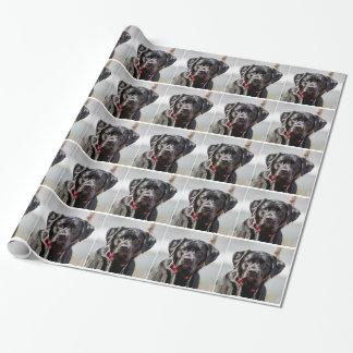 Black Lab Dog Pet Black Labrador Retriever Gift Wrapping Paper