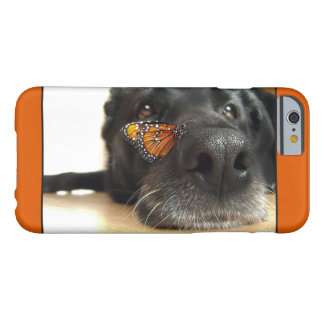 BLack Lab Dog With Butterfly Barely There iPhone 6 Case