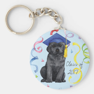 Black Lab Graduate Key Ring