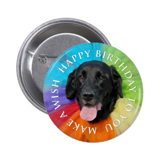 Black Lab Happy Birthday Button