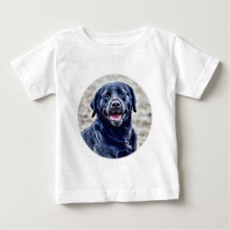 Black Lab Head Baby T-Shirt