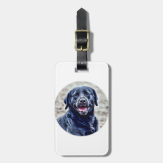 Black Lab Head Luggage Tag