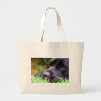 black lab large tote bag