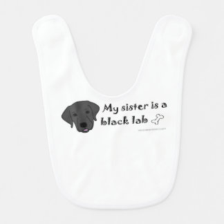 black lab - more bib